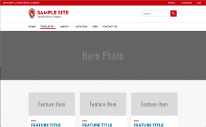 screen shot of a sample homepage template