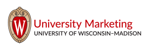 Secondary logo: University Marketing at the University of Wisconsin–Madison