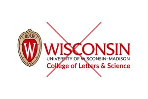 Inappropriate use of the UW logo: adding a department name to the logo.