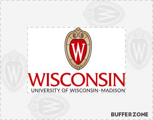 Required buffer zone around the horizontal UW logo.