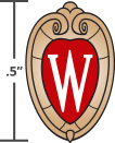 "The ""W"" crest should be no smaller than a height of one-half inch."