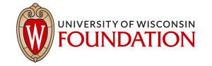 UW crest with wordmark: University of Wisconsin Foundation