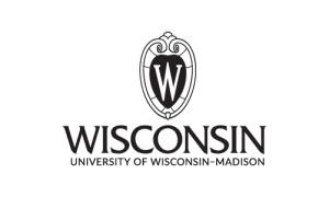 UW logo, black & white, centered
