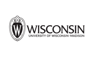 UW logo, black & white, flush