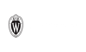 UW logo, black & white, flush, reversed