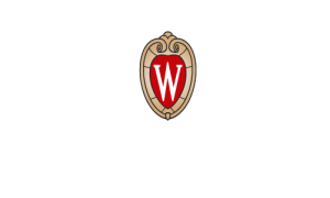 UW logo, centered, reversed