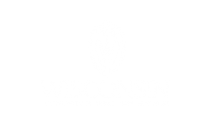 UW logo, outline, centered, reversed
