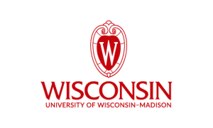 UW logo, centered red