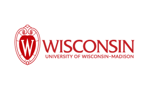 UW logo, flush red
