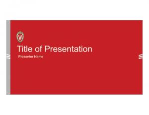 UW–Madison Red PowerPoint