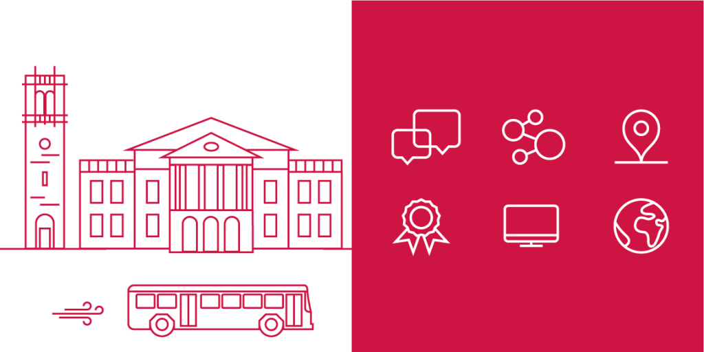 Examples of icons for use with the UW–Madison brand.