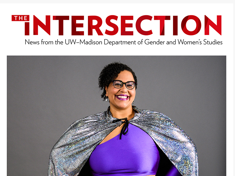 Screen shot of The Intersection newsletter with photo of Prof. Sami Schalk